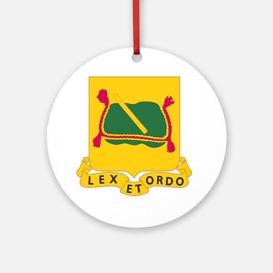 716th Military Police Battalion DUI Round Ornament