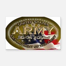 army Oval Rectangle Car Magnet