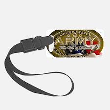 army Oval Luggage Tag