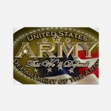 army Oval Rectangle Magnet