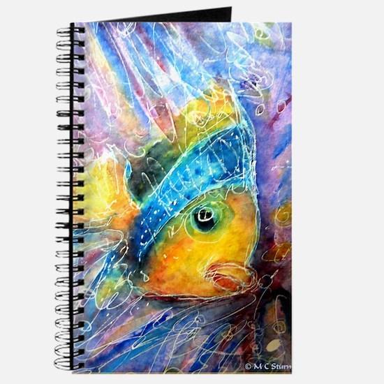 Tropical fish! Bright, art! Journal