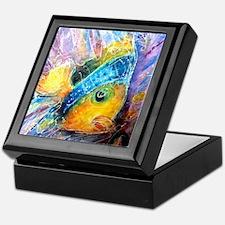 Tropical fish! Bright, art! Keepsake Box