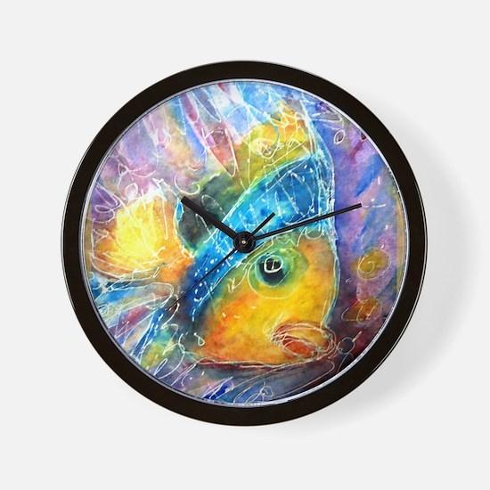 Tropical fish! Bright, art! Wall Clock