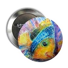 "Tropical fish! Bright, art! 2.25"" Button"