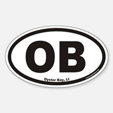 Oyster Bay OB Euro Oval Decal