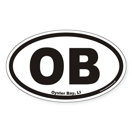 Oyster Bay OB Euro Oval Sticker