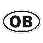 Oyster Bay OB Euro Oval Sticker