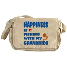 Happiness Fishing With Grandkids Messenger Bag