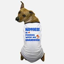 Happiness Fishing With Grandkids Dog T-Shirt