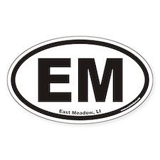 East Meadow EM Euro Oval Decal