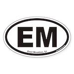 East Meadow EM Euro Oval Sticker