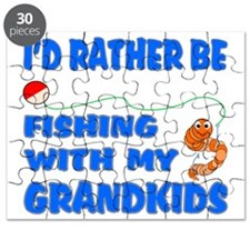 Rather Be Fishing With Grandkids Puzzle