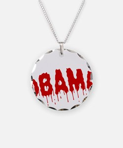 FIN-obama-on-your-ass-WonB Necklace