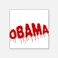 """FIN-obama-on-your-ass-WonB Square Sticker 3"""" x 3"""""""