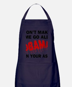 FIN-obama-on-your-ass Apron (dark)