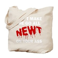 FIN-newt-on-your-ass-WonB Tote Bag