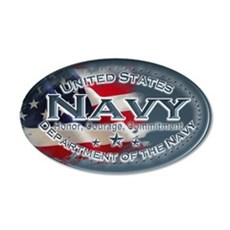 Navy Oval 35x21 Oval Wall Decal