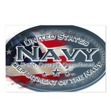 Navy Oval Postcards (Package of 8)