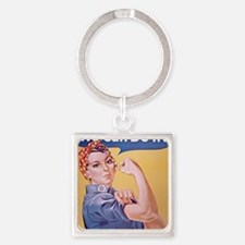 Rosie the Riveter Square Keychain