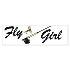 fly girl boy short Bumper Sticker