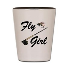 fly girl thong front Shot Glass
