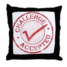 Challenge-Accepted-Round.gif Throw Pillow