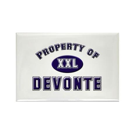 Property of devonte Rectangle Magnet