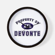 Property of devonte Wall Clock