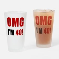 omg40 Drinking Glass
