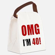 omg40 Canvas Lunch Bag