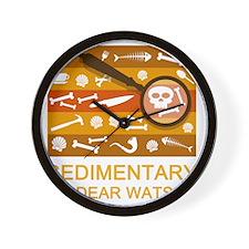 sedimentarywatson3b Wall Clock