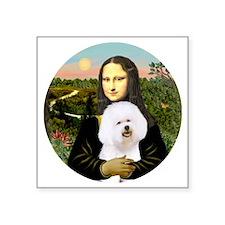 """J-ORN-Mona-Bichon 1 Square Sticker 3"""" x 3"""""""