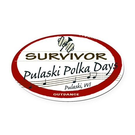 Survivor Oval Car Magnet