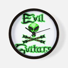 AlienSkull-Green Revised Back Wall Clock