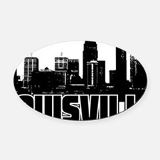 Louisville Skyline Oval Car Magnet