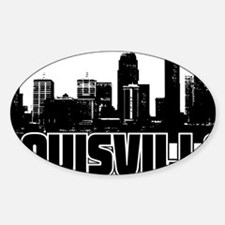 Louisville Skyline Sticker (Oval)