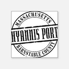 "Hyannis Port Title W Square Sticker 3"" x 3"""
