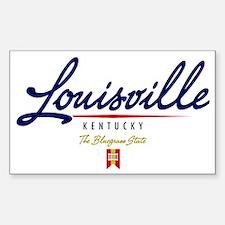 Louisville Script W Sticker (Rectangle)