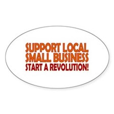 Support Local Oval Decal