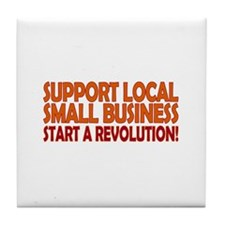 Support Local Tile Coaster