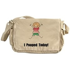 Pooped Today Black Messenger Bag