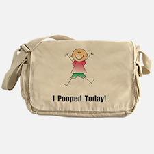 Pooped Today Black Messenger Bag