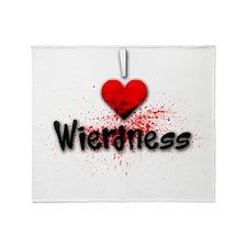I heart Wierdness Throw Blanket