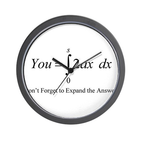 Your Math Insult Wall Clock