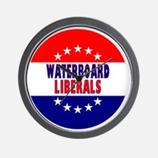 RoundButtonsMagnetsWaterboardLiberal Wall Clock