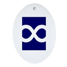 Metis Flag Oval Ornament