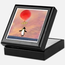 "Keepsake Box featuring the ""I can Fly"" penguin."