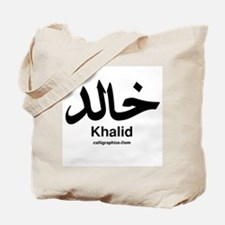 Khalid Arabic Calligraphy Tote Bag