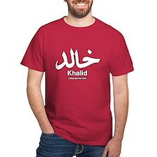 Khalid Arabic Calligraphy T-Shirt