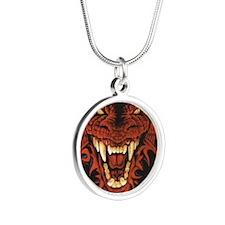 dragon_21618 Silver Round Necklace